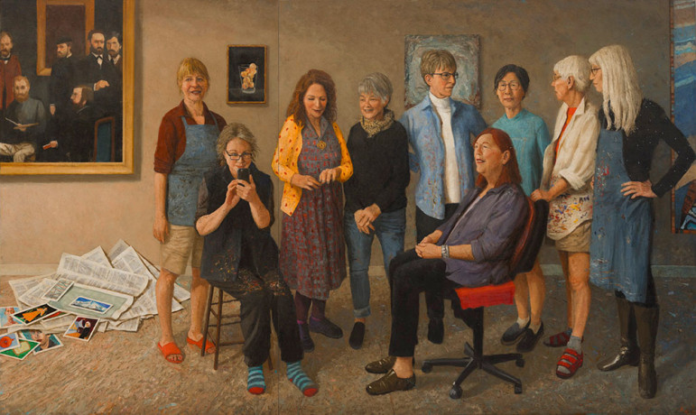 Nine Portraits (Portland artists)